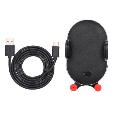 Carregador sem fio qi aperto automático suporte do telefone do carro almofada de carregamento sem fio rápido para iphone x xr 8 huawei samsung telefone inteligente