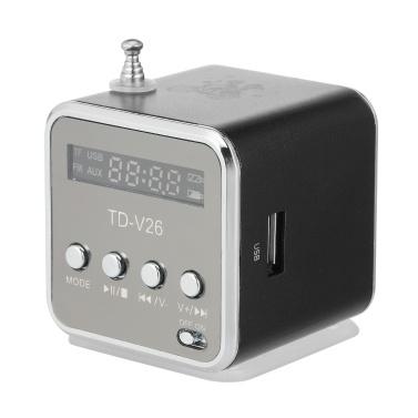 3,5 mm kabelgebundener Mini-Lautsprecher, tragbarer MP3-Player, FM-Radio, Musikverstärker
