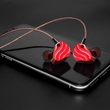 QKZ KD4 Kopfhörer In-Ear Wired Headset 3,5-mm-Buchse Kopfhörer Ohrhaken für Smartphone MP3