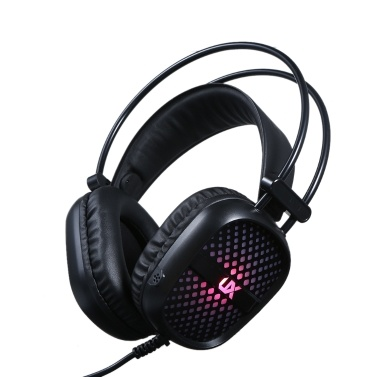 Gaming Headset Noise Reduction Stereo Headphone Illuminated Lighting Design 2 * 3.5mm Port Wired Earphone