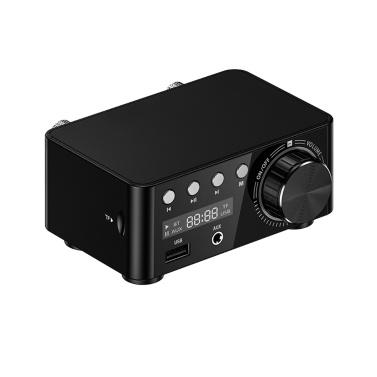HIFI BT 5.0 Digital Amplifier Mini Stereo Audio Amp 100W Dual Channel Sound Power Audio Receiver Stereo AMP USB Home Theater