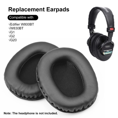 1 Pair Headphones Ear Pad Replacement Ear Cushion Cover Compatible with Edifier W800BT W830BT G1 G2 G20 Headphone Earpads
