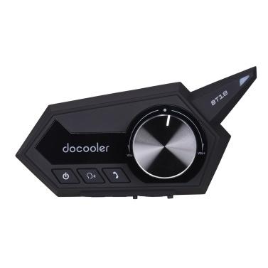 docooler Motorradhelm Headset Motorrad Drahtloser Bluetooth 5.0 Kopfhörer mit Mikrofon Unterstützt den automatischen Anrufbeantworter Motorhelm Kopfhörer
