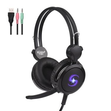 KUBITE T-591 Over-Ear-Gaming-Headset mit Mikrofon-Noise-Cancelling-Kopfhörer