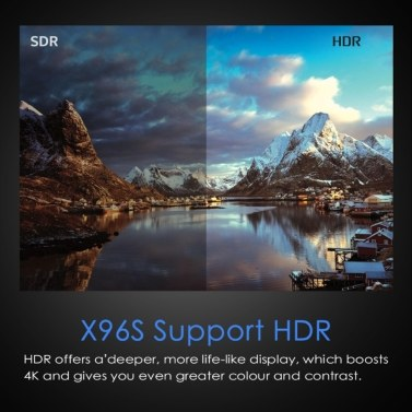 X96S TV-Box S905Y2 Quad-Core 64-Bit-Chipsatz Cortex A53 DDR3 Android 9.0 TV-Set-Top-Box 4K HDR WiFi Media Player Unterstützung BT