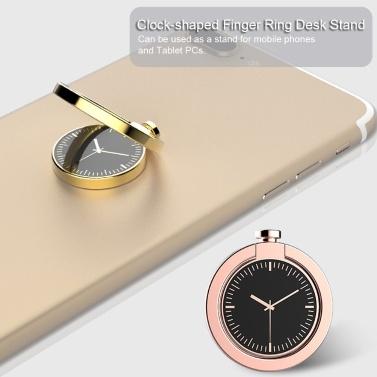 Handyhalter Uhrförmiger Fingerring-Schreibtischständer Universal 360 Grad drehbarer Ringgriff-Telefonhalterung