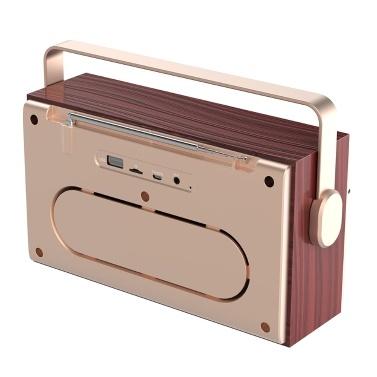 X5 tragbarer drahtloser Bluetooth 5.0-Lautsprecher 20-W-Lautsprecher Wecker FM-Radio MP3-Player-Unterstützung TF-Karte U Festplattenleitung in der Digitalanzeige