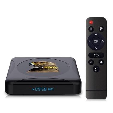 HK1 RBOX R1 Mini-Smart-TV-Box Android 10.0 UHD 4K-Mediaplayer RK3318 2 GB / 16 GB 2,4 G / 5 G Dualband-WLAN BT4.0 100M LAN-Digitalanzeige mit Fernbedienung