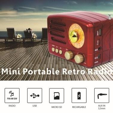 M-160BT USB BT Small Portable Radio Portable BT Speaker Retro Radio Vintage Radio