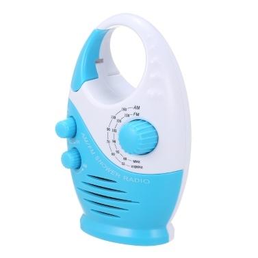 AM / FM Mini-Duschradio Bad Wasserdichtes Radio Hängende Musik Radio Eingebauter Lautsprecher (ohne Batterie)