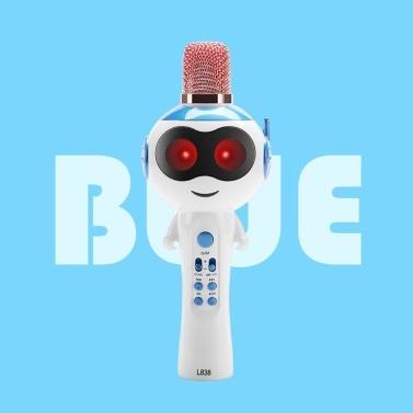 L838 Crianças Wireles-s Microfone Karaokes Leitor de BT4.2 Treasure Magic Sound Singing Toy Portátil Leve Festa de Aniversário Xmas Família Garhering para Iphones Ipads Android Telefone Inteligente PC