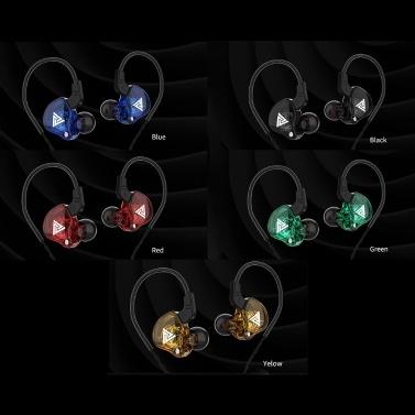QKZ AK6 Universal 3,5-mm-HiFi-Sportkopfhörer im Ohr Kopfhörer zum Laufen mit Musik-Headset-Musik-Ohrhörern