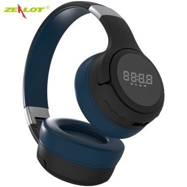 ZEALOT B28 Wireless Headphones Bluetooth Headset Foldable Stereo Headphone Gaming Earphones with Microphone for PC Mobile Phone MP3