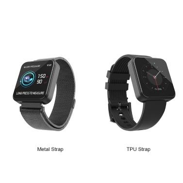 SX8 Smart Armband Pulsmesser Smart Band Blutdruckmessung Schrittzähler Armband IP67 Wasserdicht BT4.0 Metallband
