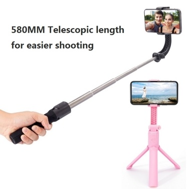 H5 Portable Adjustable Phone PTZ Stabilizer Anti-Shake Handle Phone Stabilizer for iOS Android Mobile Phone Universal