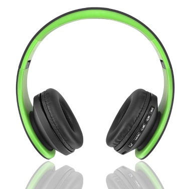 Andoer LH-811 Digital Wired Earphone Wireless Stereo Bluetooth 3.0 + EDR Green
