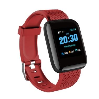 D13 Smart Watch Herzfrequenz-Blutdruckmessgerät Fitness Tracker Uhr IP67 Wasserdichtes Sport Smart Armband für Android IOS