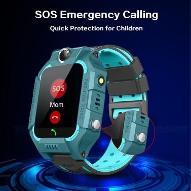 """SZ6A Multifunktionale Kinder Kinder Smart Watch Tracker Intelligente Band Sensitive 1,44 """"Touchscreen Kompatibel für Android / IOS-Telefonsystem Chat Anruf Kamera Wecker LBS Positionierung IP67 Wasserbeständigkeit für Geschenk"""