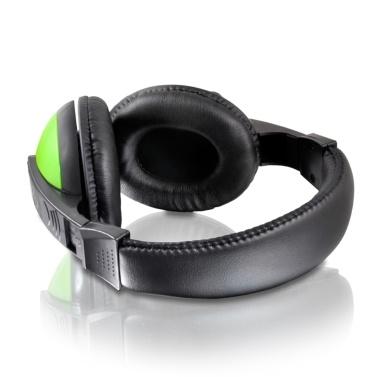 KUBITE T155 Gaming Headset 3,5-mm-Over-Ear-Kopfhörer mit einstellbarem Mikrofon-Lautstärkeregler für Desktop-PCs