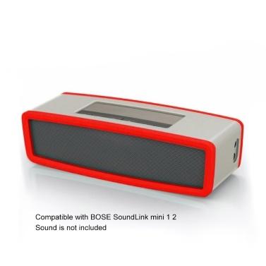 Lautsprecherschutzhülle BT Audio Silikon-Tragetaschen Mehrfarbige optionale staubdichte Hülle Kompatibel mit BOSE SoundLink mini 2