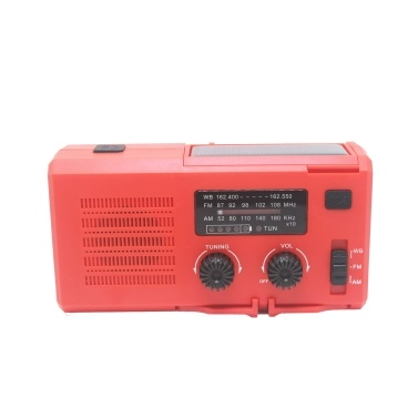 Portable Hand Crank Radio Multifunctional Outdoor Emergency Speaker with LED Light SOS Light and AM FM