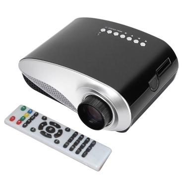 Mini LED Projektor 120 Lumen 1080P HD Kontrastverhältnis 300: 1 US Stecker