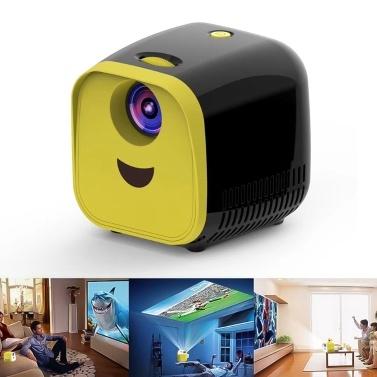 Mini LCD Projetor Suporte 1080 P Crianças Projetor Built-in HiFi Para Casa Media Player