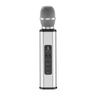 K6 Wireles-s Mikrofon Karaokes Player Aufnahme Gesang Mikrofon BT4.1 Lautsprecher Treasure Sound Gesang Geschenk Tragbare Leichte Geburtstagsfeier Xmas Family Gathering für iPhone iPad Android Smartphone PC