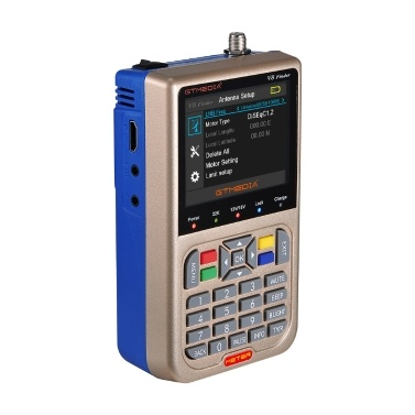 GTMEDIA V8 Finder TV-Signalfinder-Messgerät DVB-S / S2 / S2X HD-Digitalmessgerät 1080P 3000mAh Akku