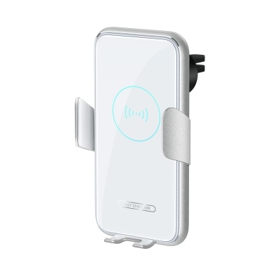 V8 15W Car Wireless Charger Phone Holder Air Vent Mount Auto Induction Fast Charging Aluminum Alloy Phone Holder for Smart Phone