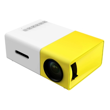 FW1S YG300 Mini Portable LED Projector 1080P with USB HD AV TF Card Slot