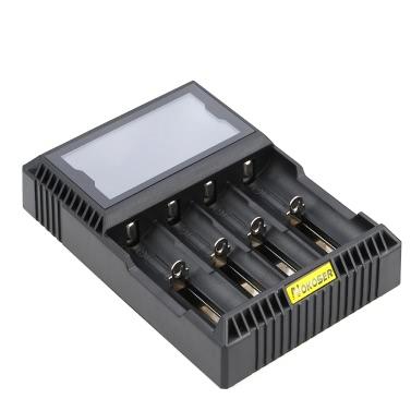 Nokoser 4 Slot Digital LCD Intelligent Smart Battery Charger for Rechargeable LiFePO4 Ni-MH/Ni-Cd AA/AAA Li-ion 26650/22650/18650/17670/18490/17500/18350/16340/14500/10440