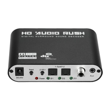 Audio Decoder Rush SPDIF Coaxial to 5 1/2 1 Channel DTS/AC-3 Sales Online  eu - Tomtop