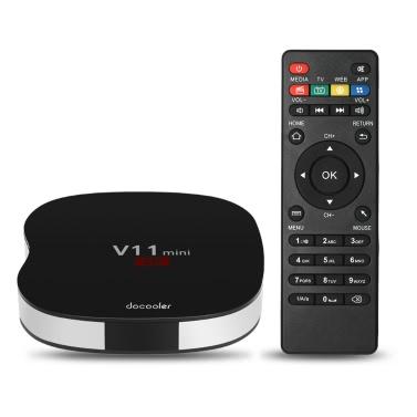 41% OFF Docooler V11 Android 5.1 TV Box Rockchip 3229 -1G+8G US Plug,limited offer $23.99