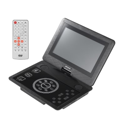 GKNUO GKN-100 10.1 Inches Portable DVD Player Touch Buttons Swivel Screen Digital Multimedia Player Support SD / U Drive / AV IN & OUT/ TV Program / Gamepad 2600mAh Rechargeable US Plug