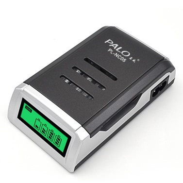 PALO Battery Charger for AA/AAA Ni-MH/Ni-Cd Rechargeable Batteries