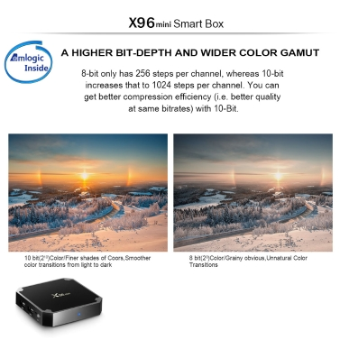 X96mini Amlogic S905W Quad Core 1GB / 8GB Android 7.1.2 TV Box DLNA WiFi LAN EU Plug