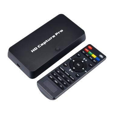 ezcap295 HD Video Capture Pro 1080P Recorder USB 2.0 Wiedergabe Capture-Karten mit Fernbedienung Hardware H.264-Kodierung für Xbox 360 Xbox One PS4 Set-Top-Box EU-Stecker weiß