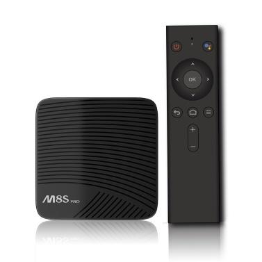 MECOOL M8S PRO ATV TV-Box mit Sprach-IR-Fernbedienung