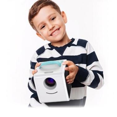 Q2 Mini Portable LCD Projektor Kinder Spielzeug Heimkino 1080P