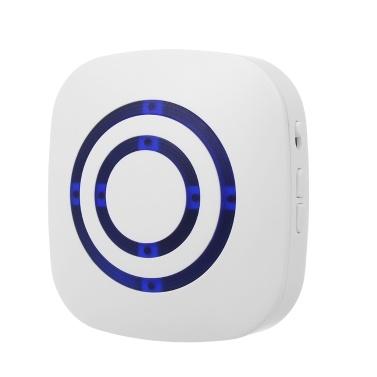 Smart Motion Sensor Alarm Wireless Doorbell Plug-in Door Bell Home Security Infrared Detector Alert Kits 2 PIR Sensors 1 Receiver 38 Chime Tunes LED Indicators