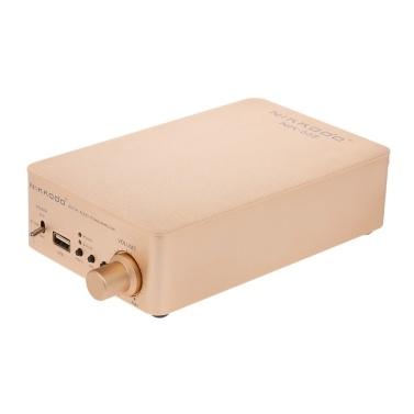 NIKKODO NK668 Digitaler Audio-Leistungsverstärker Bluetooth 5.0 Mini-HiFi-Audioempfänger Verstärker-Unterstützung USB AUX Dual-Channel 60W + 60W mit Netzkabel