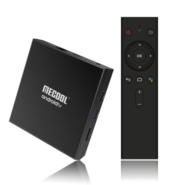 MECOOL KM9PRO CLASSIC Smart Android 9.0 TV Box UHD 4K Media Player Amlogic S905X2 Controle remoto por voz de 2GB / 16GB Controle de voz colorido certificado pelo Google Luzes de respiração coloridas