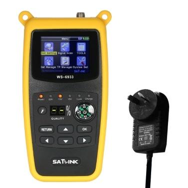 Localizador de satélite de medição de força de sinal de precisão inteligente de exibição de tela LCD