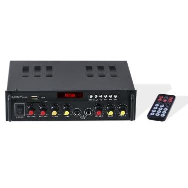 Kinter-007 Mini Amplificador de potência de áudio estéreo Receptor de áudio digital BT