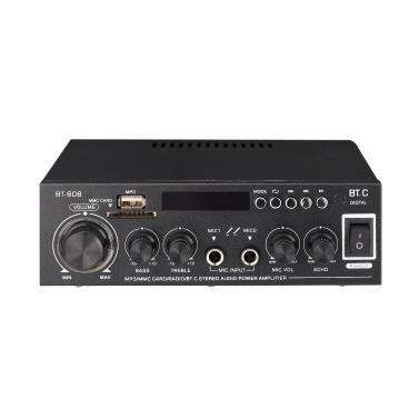 Mini Power Amplifier Audio MP3 Player FM Radio BT Digital Audio Receiver