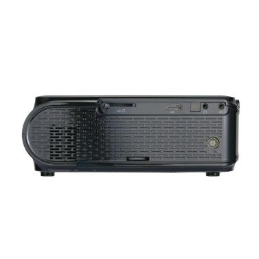 UHAPPY U90 LCD-Projektor LED 1080P Heimkino 1500 Lumen 1000: 1 Kontrastverhältnis mit HD VGA USB-Anschluss