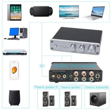 FX-AUDIO XL-2.1BL HiFi Audio Digital Amplifier 2.1 Channel High-power Bluetooth 4.0 CSR8635 Audio Subwoofer Amplifier Input RCA/AUX/BT 50W*2+100W