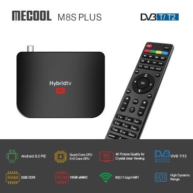 MECOOL M8S PLUS Android 9.0  4K Media Player  DVB-T2 Set-top Box