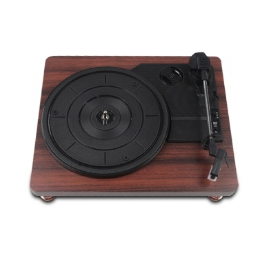 BT Retro Vinyl Record Player Record Player with Dustproof Cover Classic Nostalgic Style Record Player
